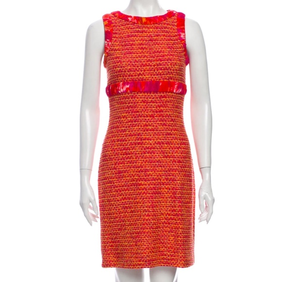 St. John Pink Tweed Sheath Dress